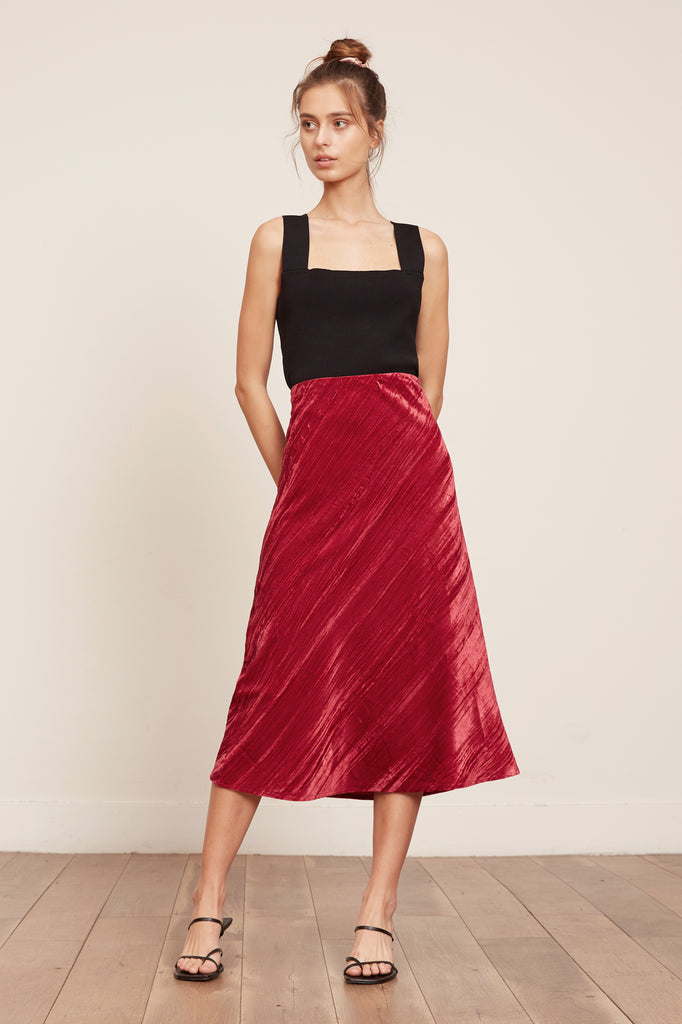 LUCY PARIS - Holly Velvet Skirt