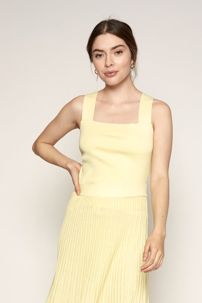 Lucy Paris - Jasmine Knit Crop - Yellow