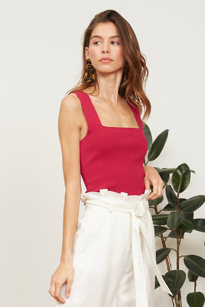 Lucy Paris - Jasmine Knit Crop - Berry