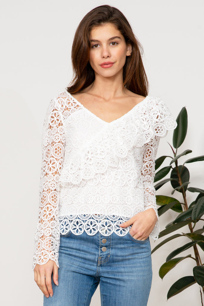 Lucy Paris - Jasmine Lace Long Sleeve