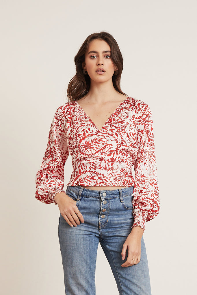 Landon Wrap Top