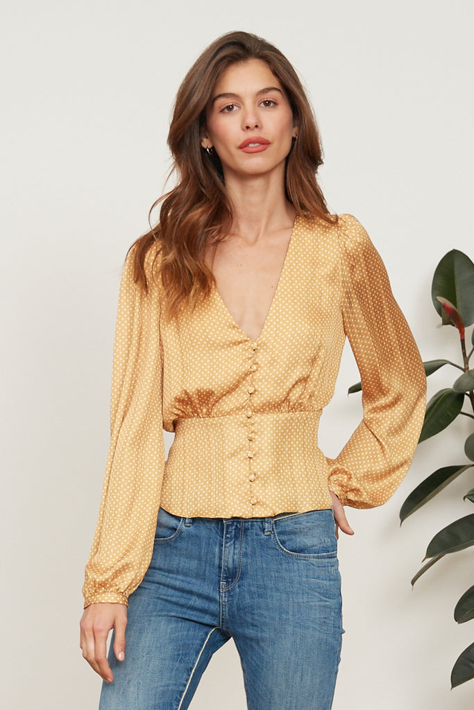 LUCY PARIS - Layla Button Top