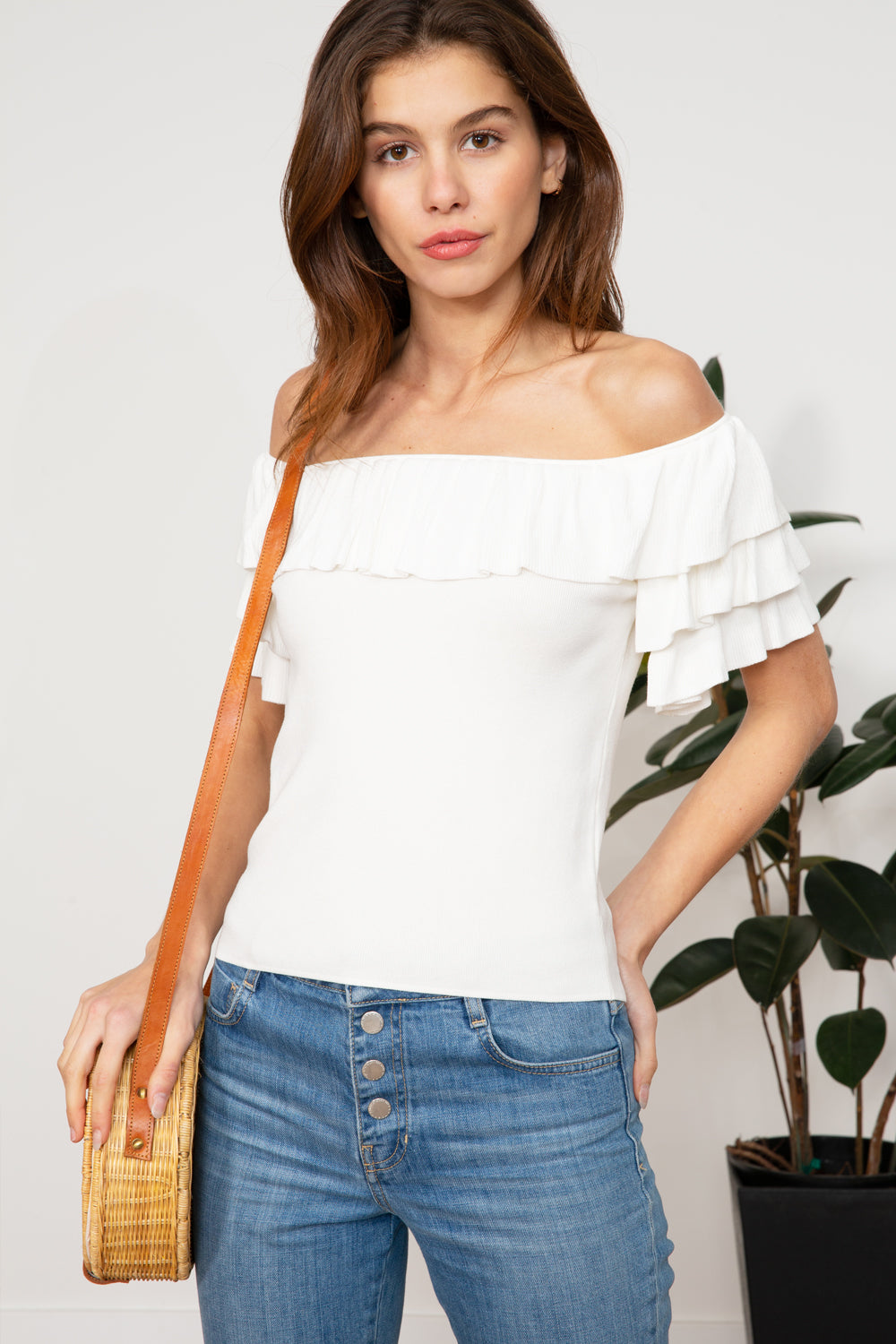 Lucy Paris - Layla Ruffle Top