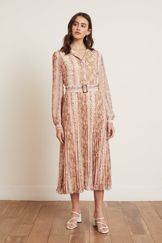 LUCY PARIS - Leena Pleated Dress