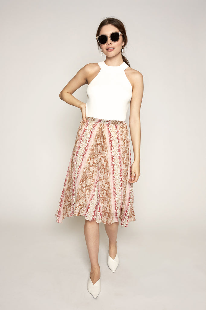 LUCY PARIS - Leena Pleated Skirt