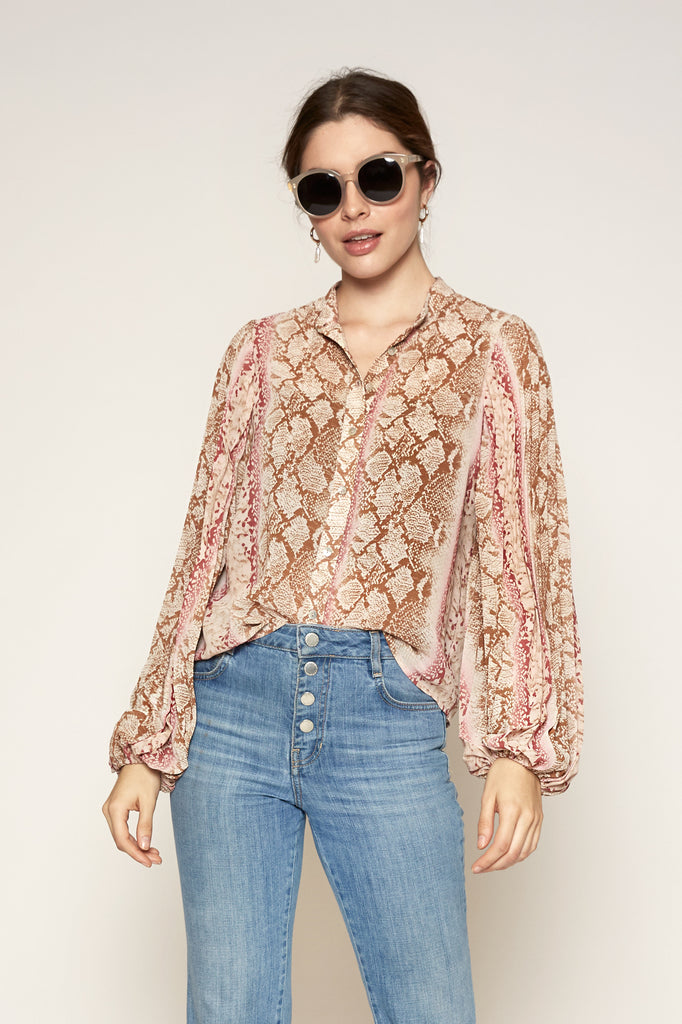 LUCY PARIS - Leena Snake Print Top