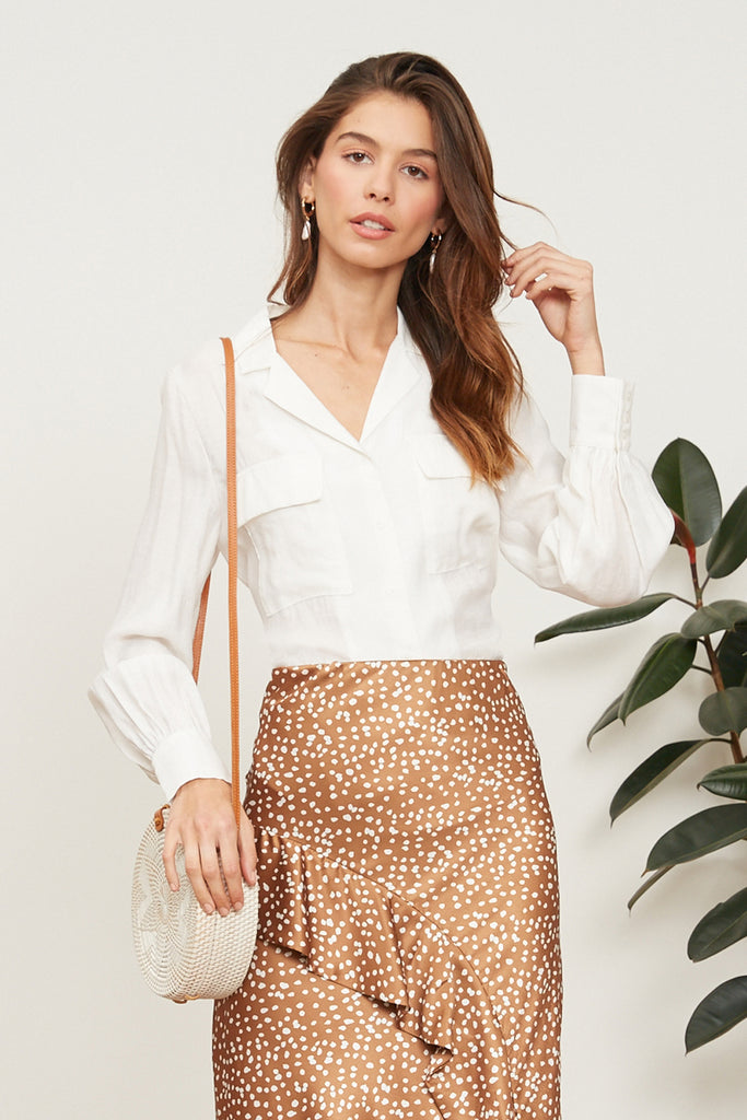 LUCY PARIS - Logan Button Up Top