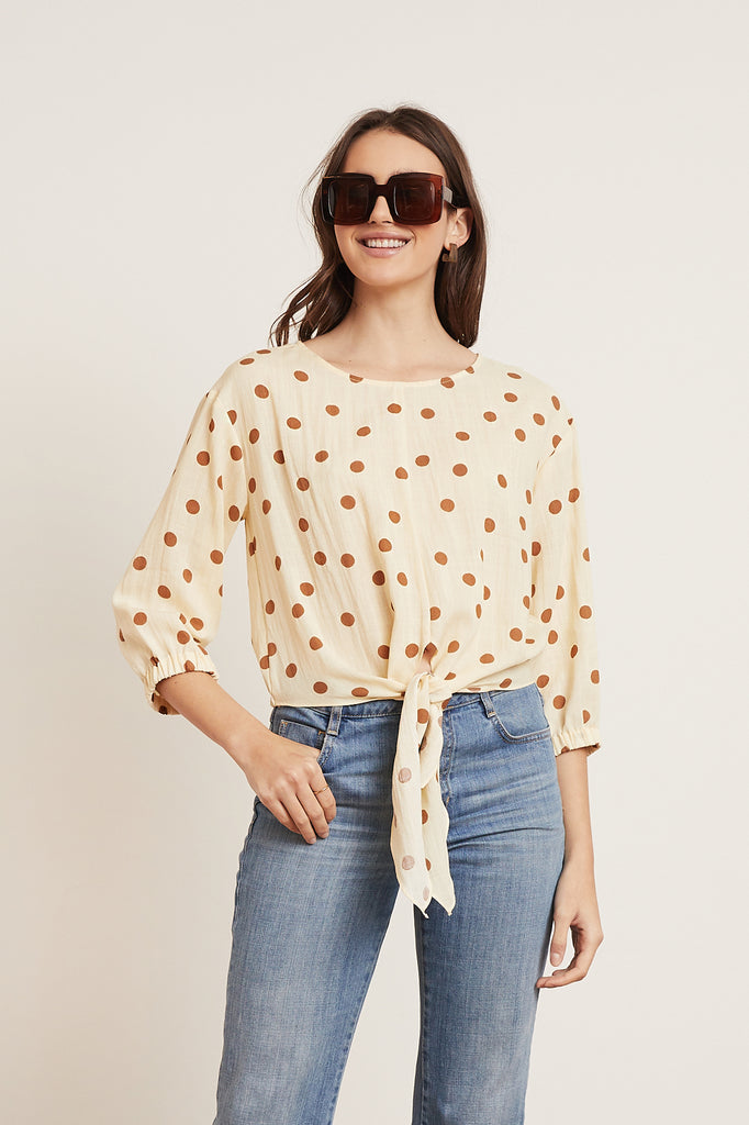 LUCY PARIS - Maren Tie Top