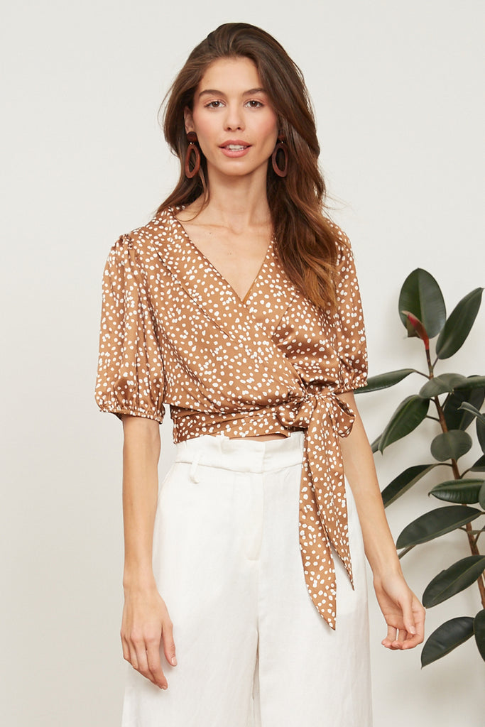 LUCY PARIS - Noemi Polka Dot Top