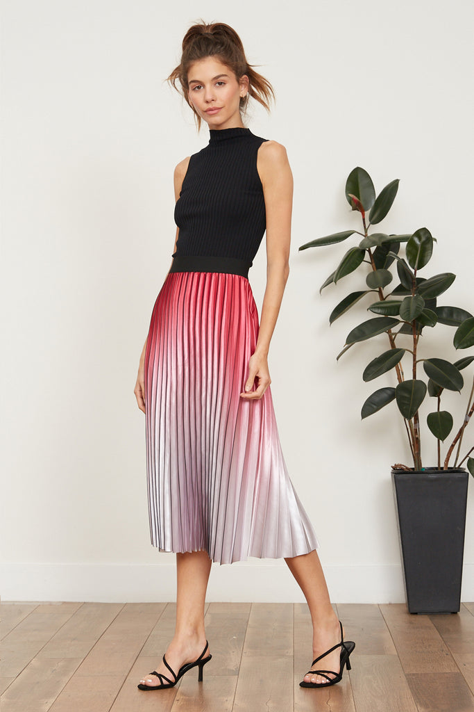 Ofelia Ombre Pleated Skirt