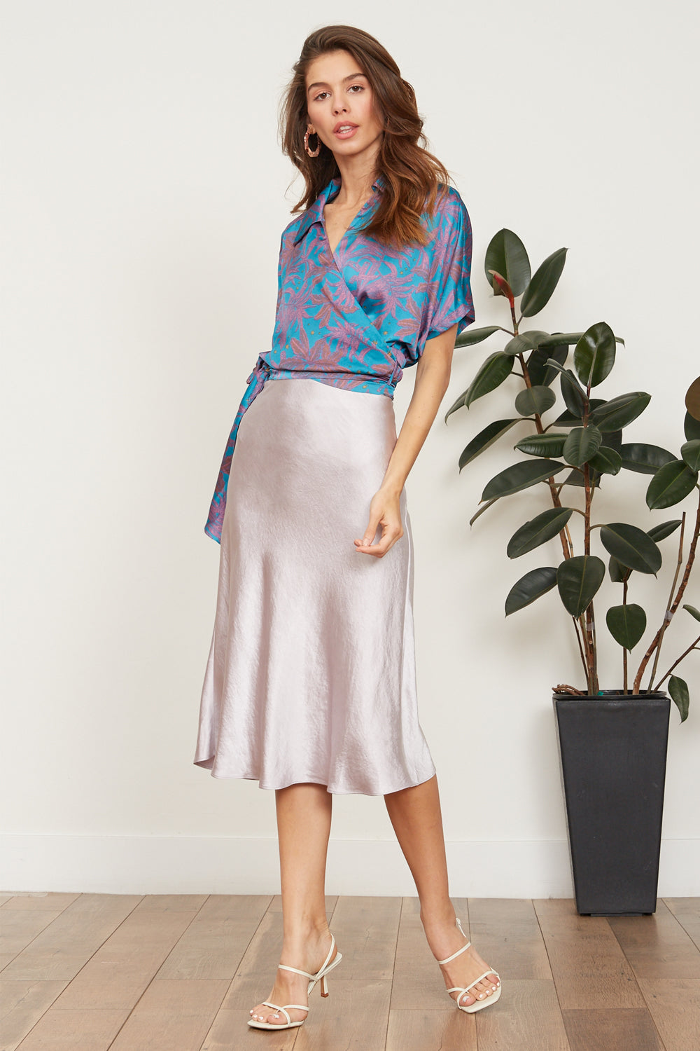 LUCY PARIS - Rumi Satin Skirt - LAVENDER