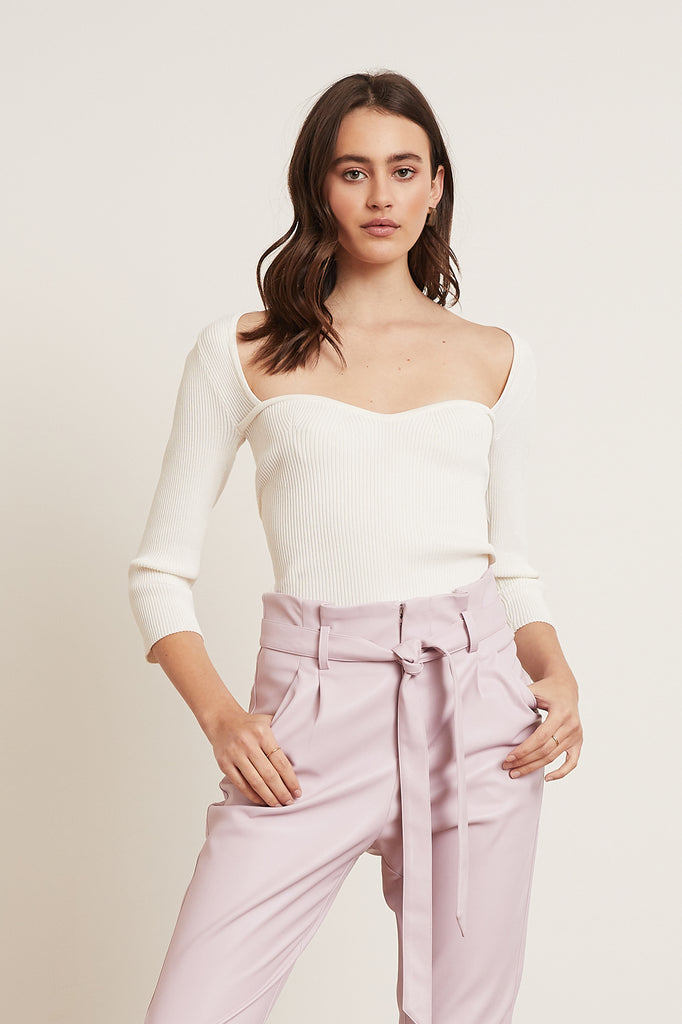 LUCY PARIS - Scarlett Knit Top