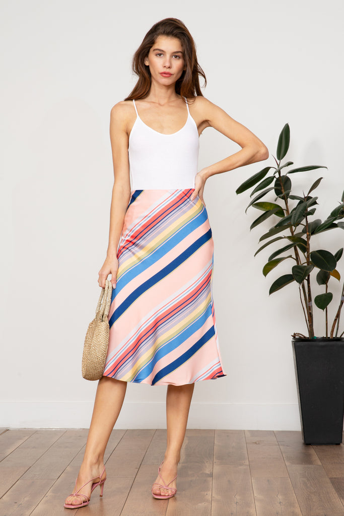Lucy Paris - Sienna Rainbow Skirt