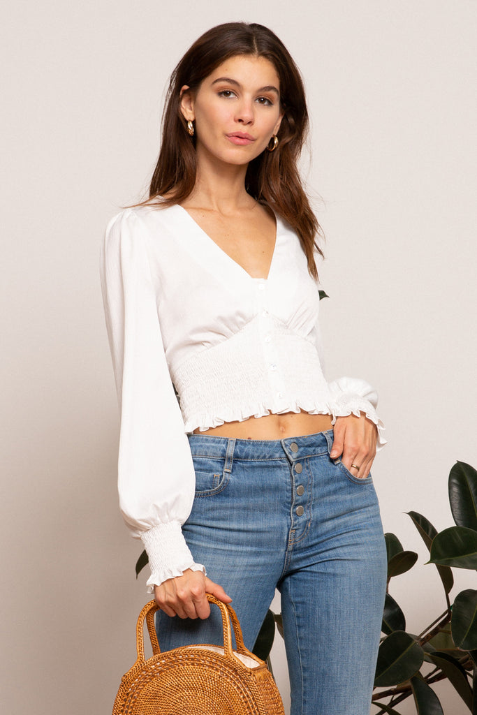 LUCY PARIS - Sivan Button Top