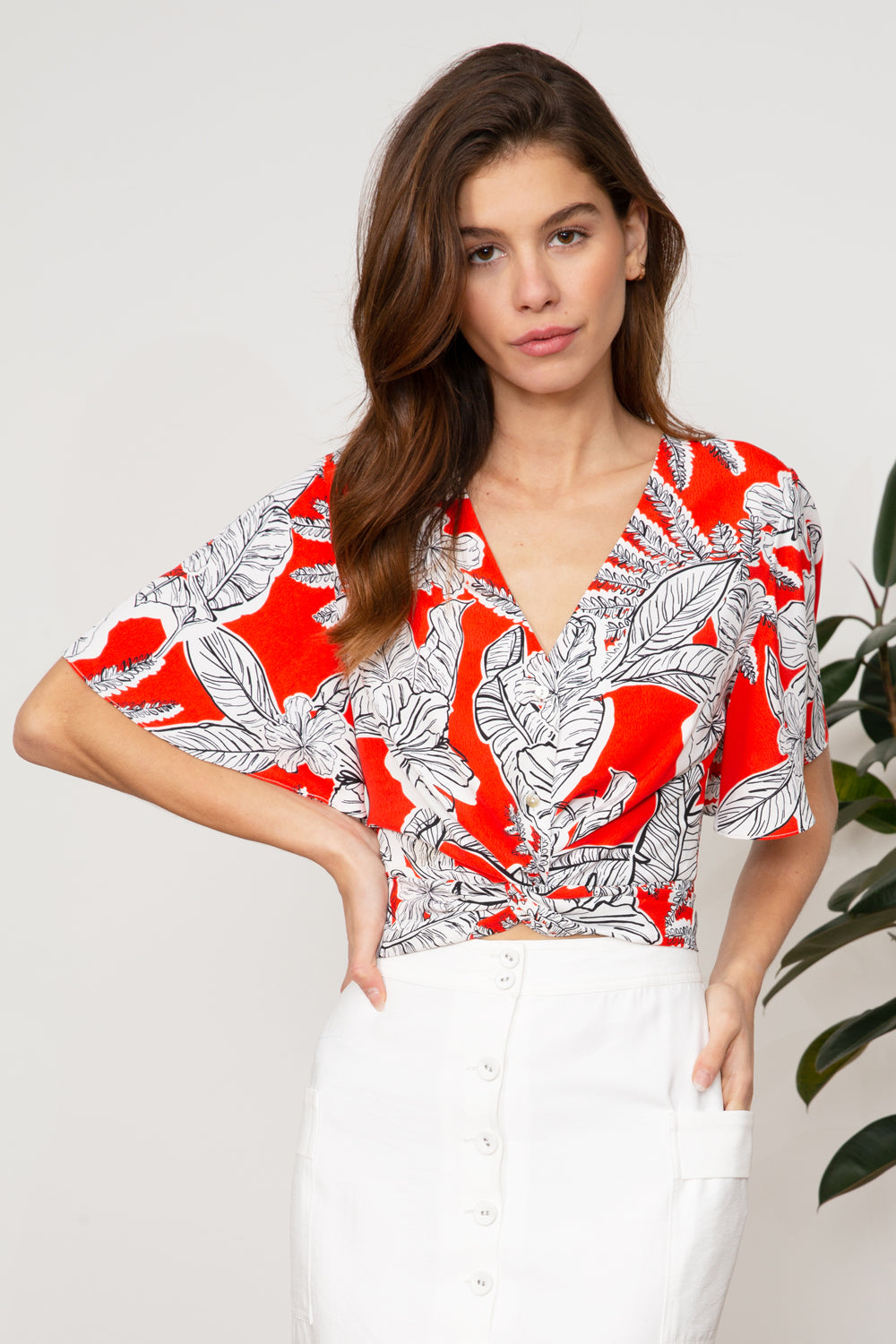 LUCY PARIS - Lela Twist Top