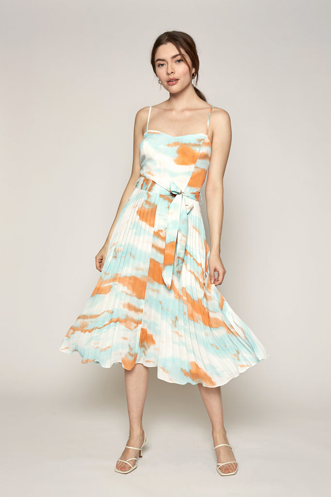 Tyler Tie Dye Pleated Dress