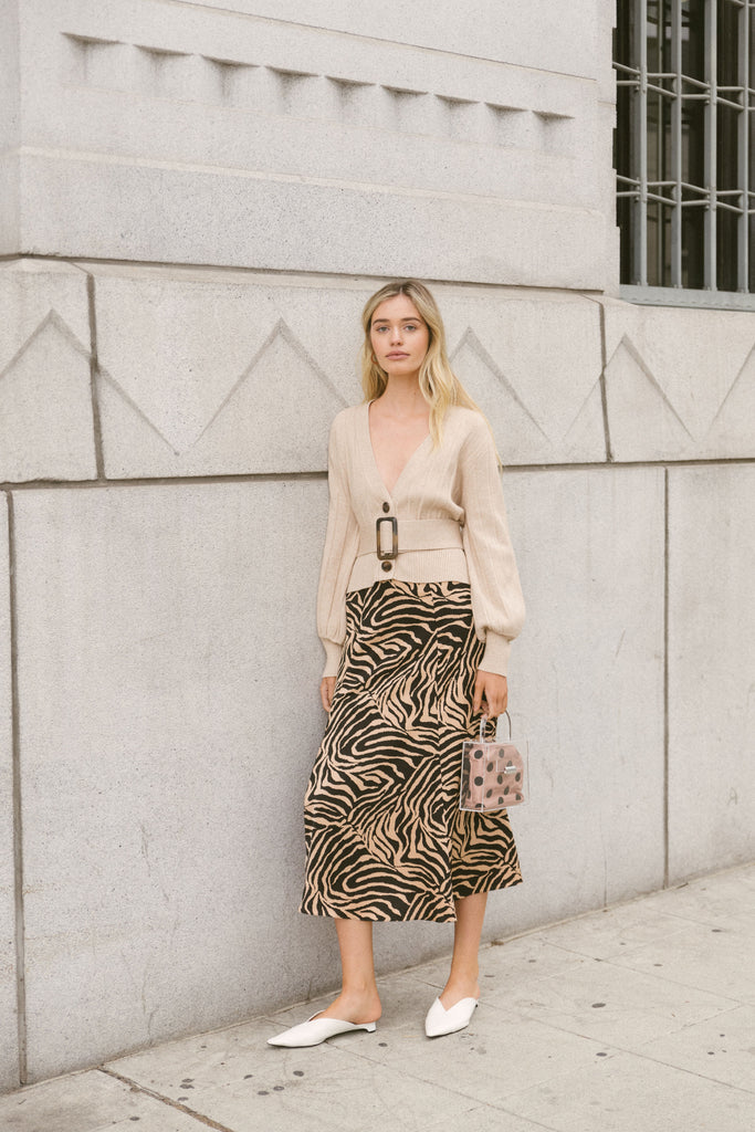 Dakota Zebra Print Skirt