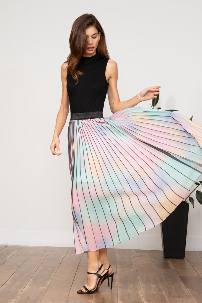 LUCY PARIS - Bernice Rainbow Skirt