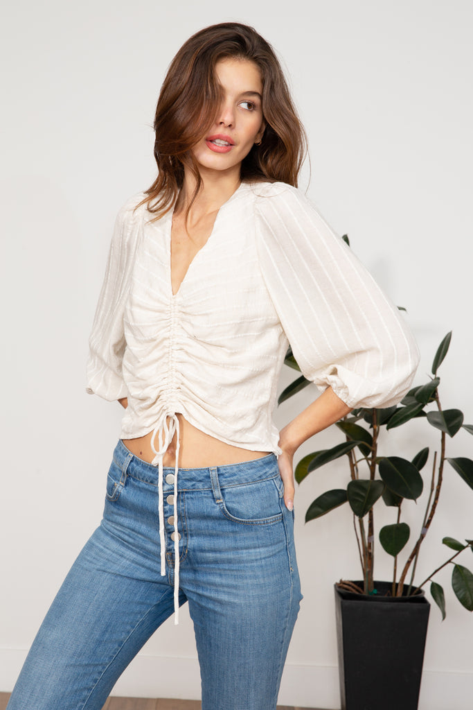 LUCY PARIS - Kaia Gathered Top