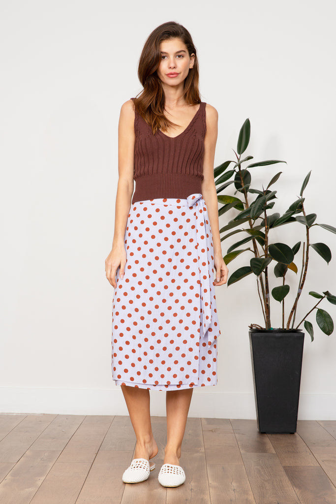 LUCY PARIS - Katelyn Polka Dot Skirt