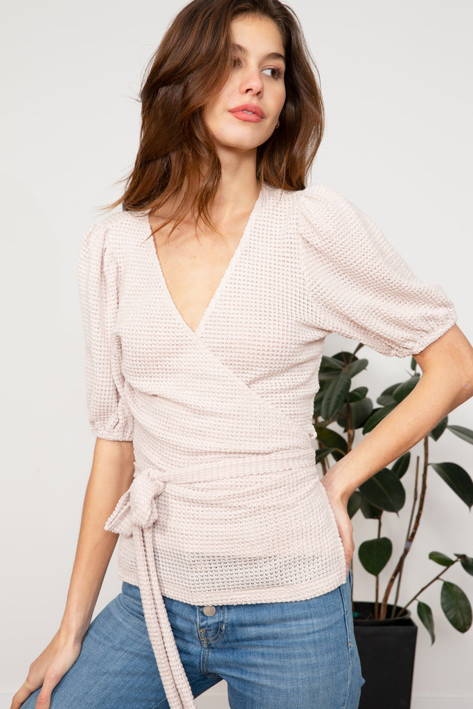 LUCY PARIS - Sophie Wrap Top