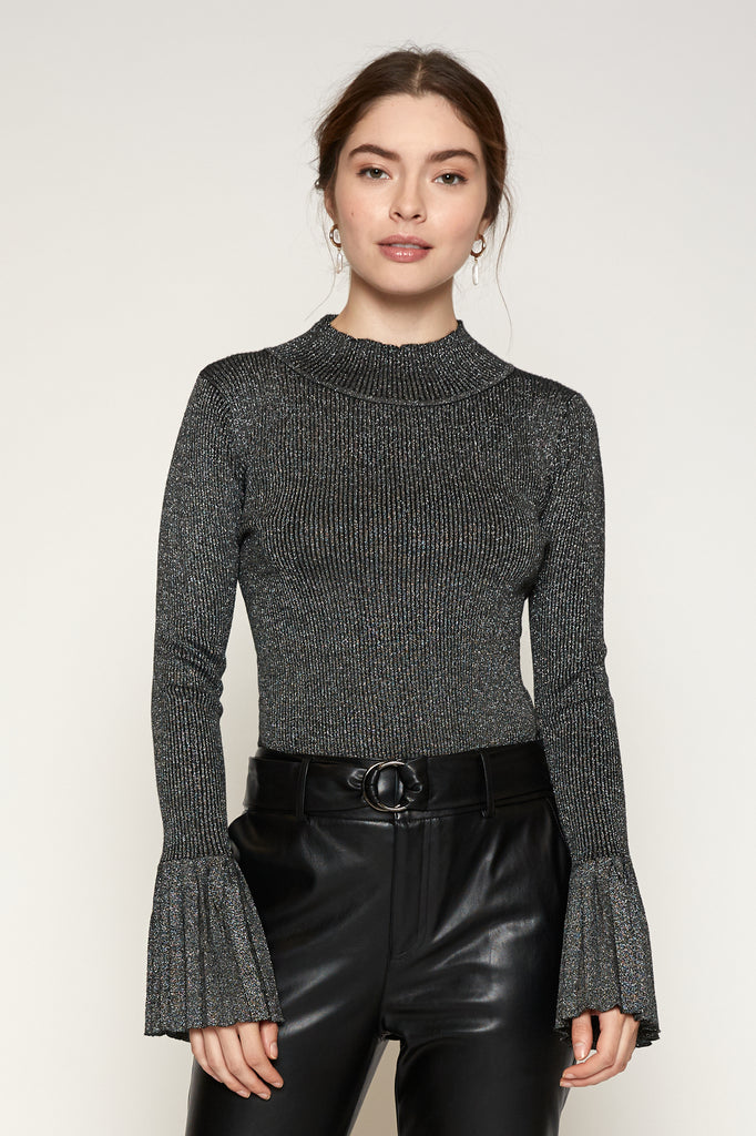 LUCY PARIS - Mallary Pleated Sleeve Sweater