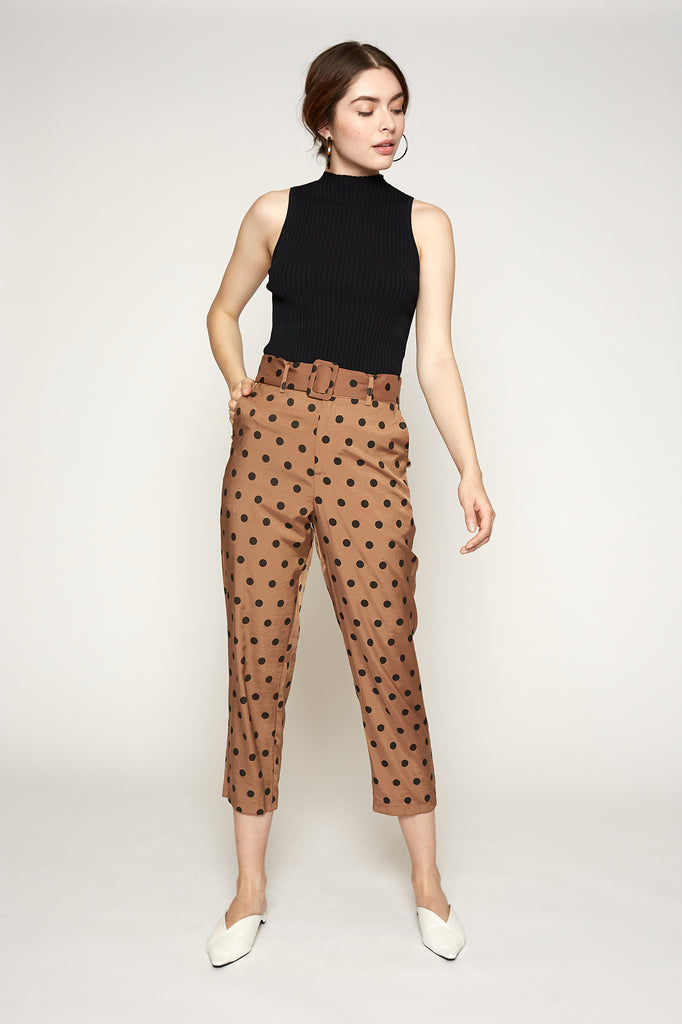 Audrey Belted Dot Pant