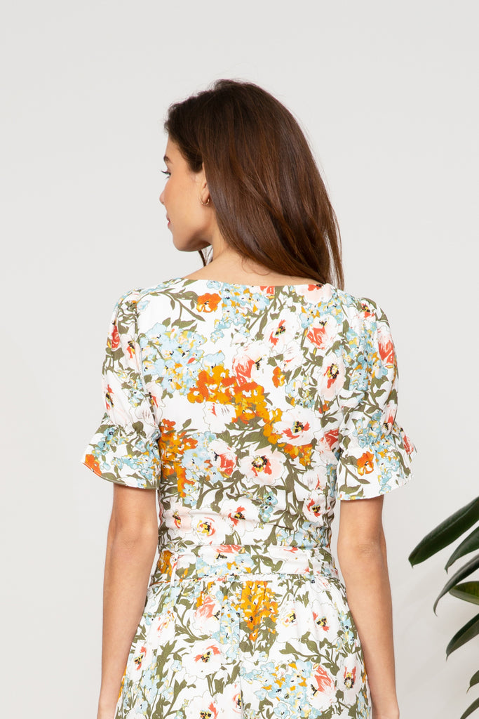 Pia Floral Crop Top