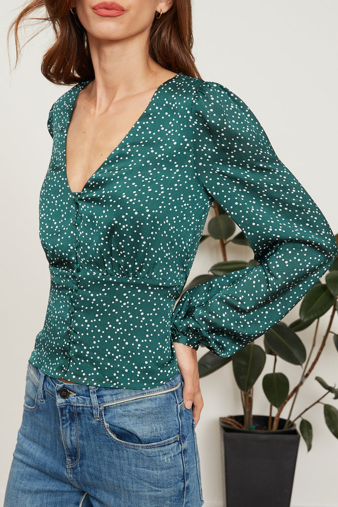 Saskia Polka Dot Top