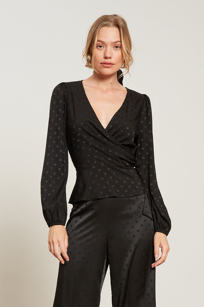 LUCY PARIS - Savanna Polka Dot Top