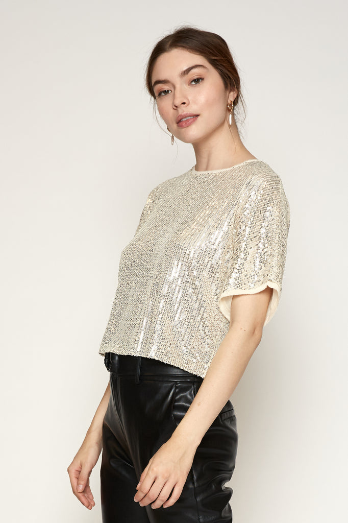 Serena Sequined Top