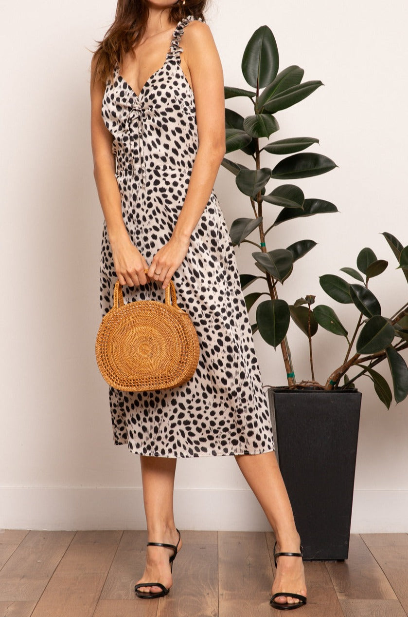 LUCY PARIS - SIERRA ANIMAL PRINT DRESS