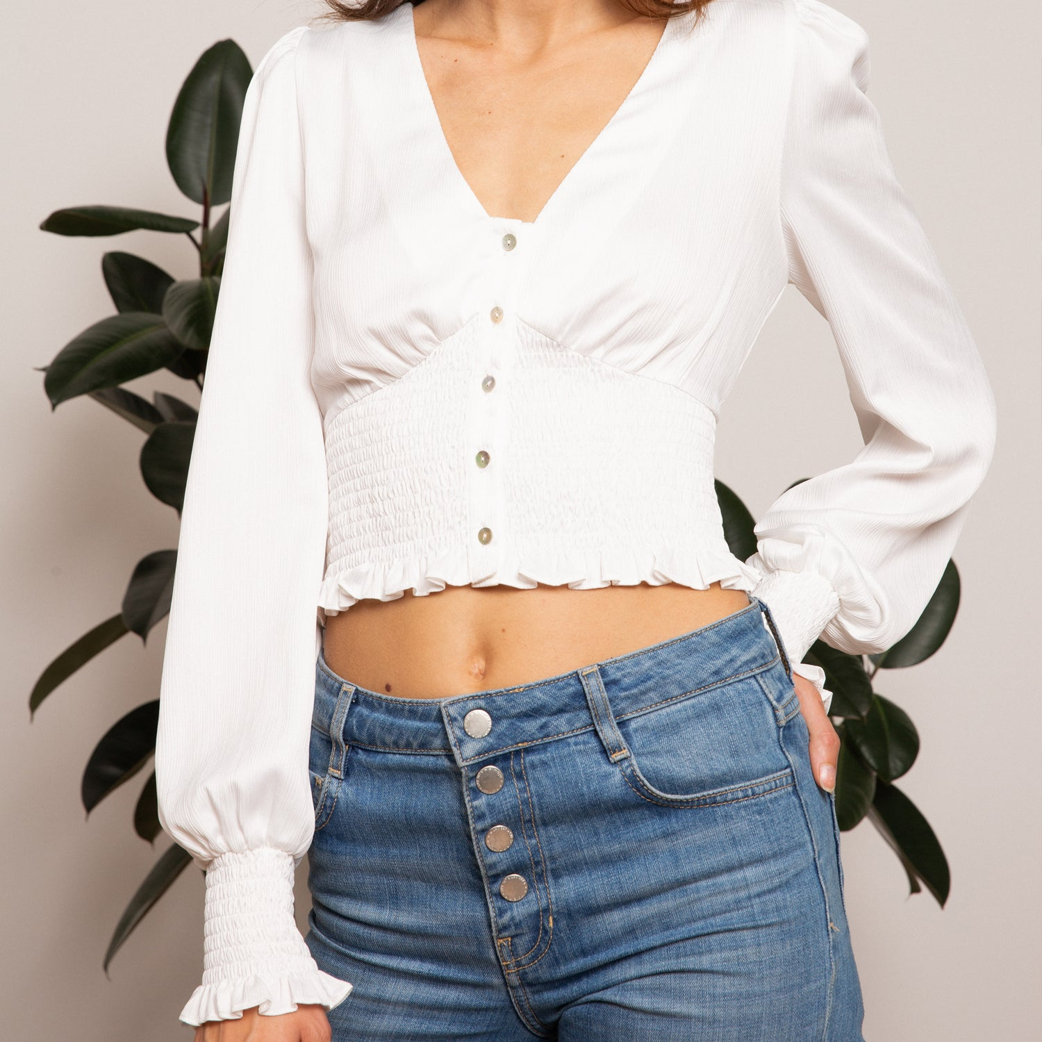Sivan Button Top