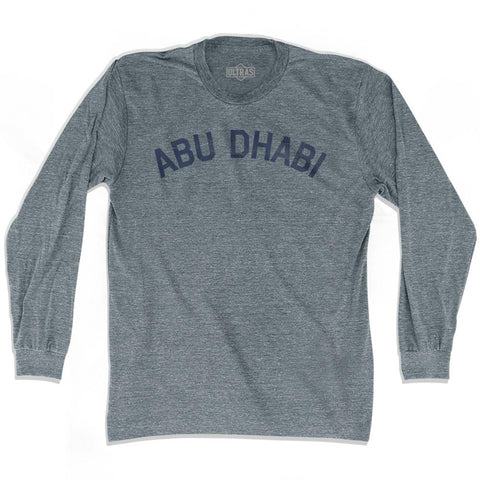 Abu Dhabi Vintage City Adult Tri-Blend Long Sleeve T-shirt
