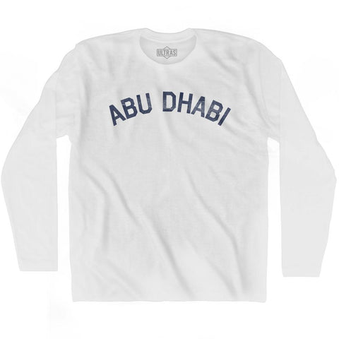 Abu Dhabi Vintage City Adult Cotton Long Sleeve T-shirt
