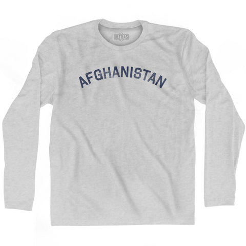 Afghanistan Vintage City Adult Cotton Long Sleeve T-shirt