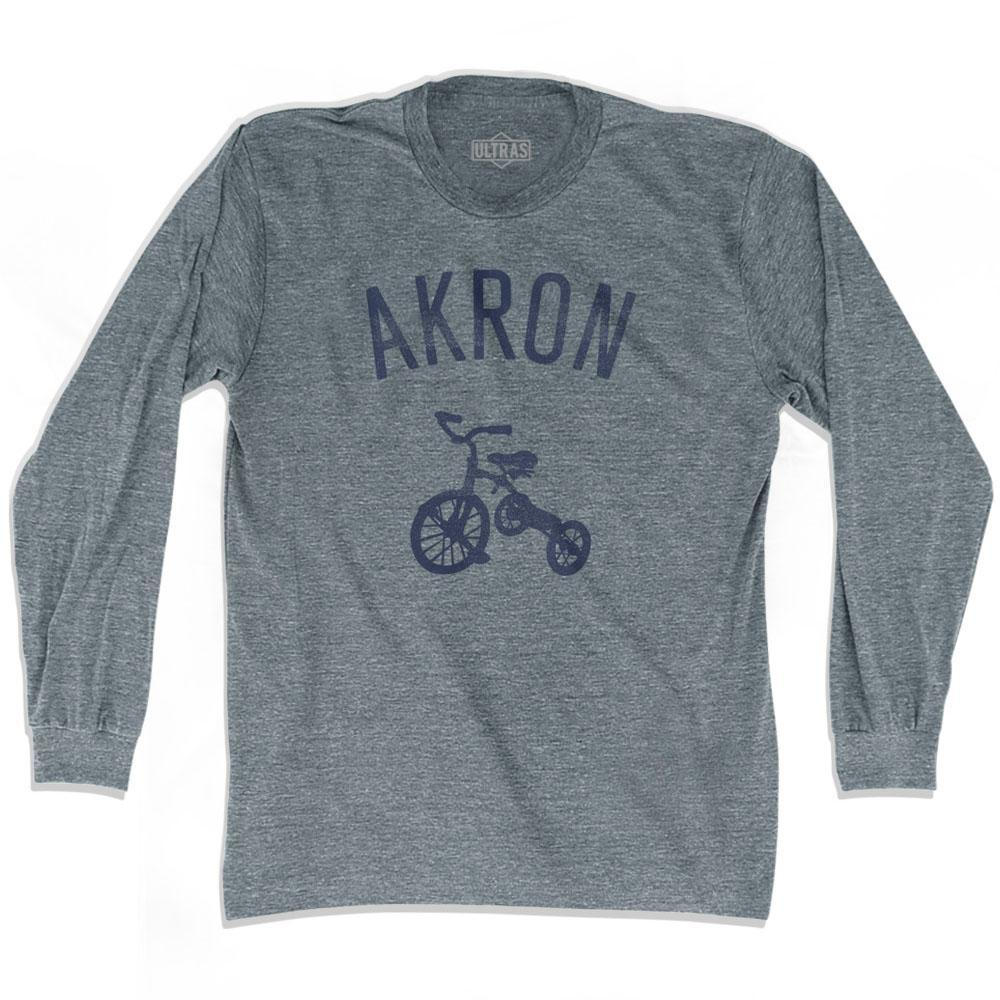 Akron City Tricycle Adult Tri-Blend Long Sleeve T-shirt by Ultras