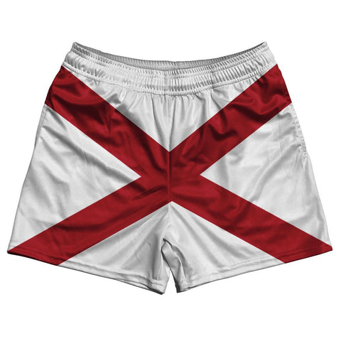 Alabama State Flag Rugby Shorts Made In USA