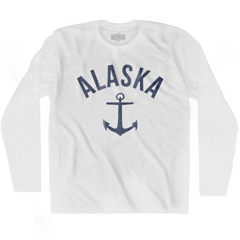 Alaska State Anchor Home Cotton Adult Long Sleeve T-shirt
