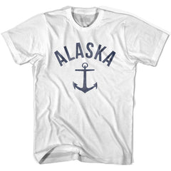 Alaska State Anchor Home Cotton Womens T-shirt by Ultras