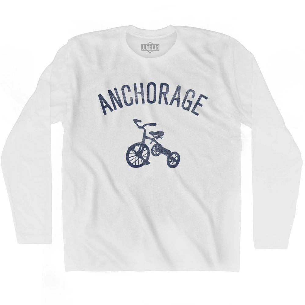 Anchorage City Tricycle Adult Cotton Long Sleeve T-shirt by Ultras