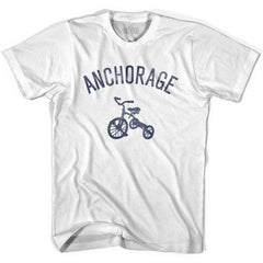 Anchorage City Tricycle Womens Cotton T-shirt by Ultras