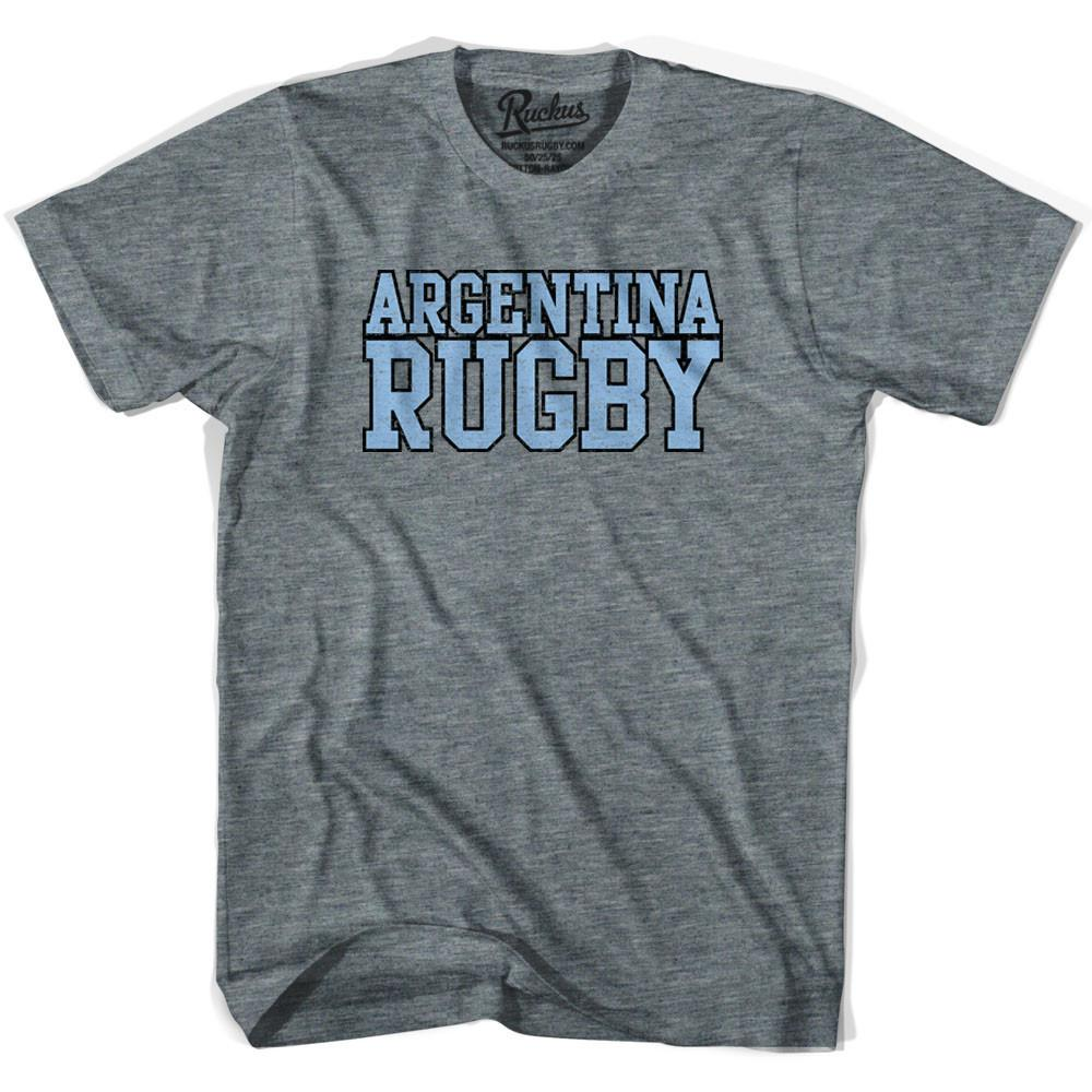 Argentina Rugby Nations T-shirt in Athletic Grey by Ruckus Rugby