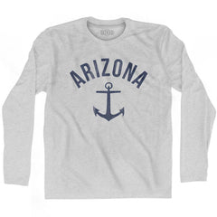 Arizona State Anchor Home Cotton Adult Long Sleeve T-shirt by Ultras