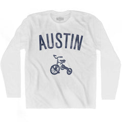 Austin City Tricycle Adult Cotton Long Sleeve T-shirt by Ultras