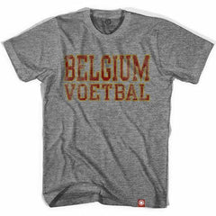 Belgium Voetbal Nation Soccer T-shirt in Athletic Grey by Ultras