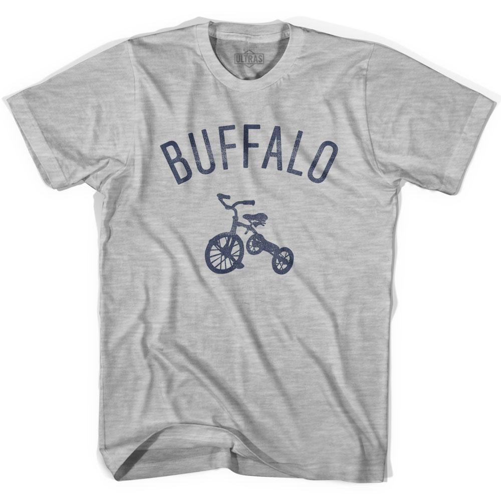 Buffalo City Tricycle Womens Cotton T-shirt by Ultras