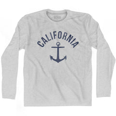 California State Anchor Home Cotton Adult Long Sleeve T-shirt by Ultras