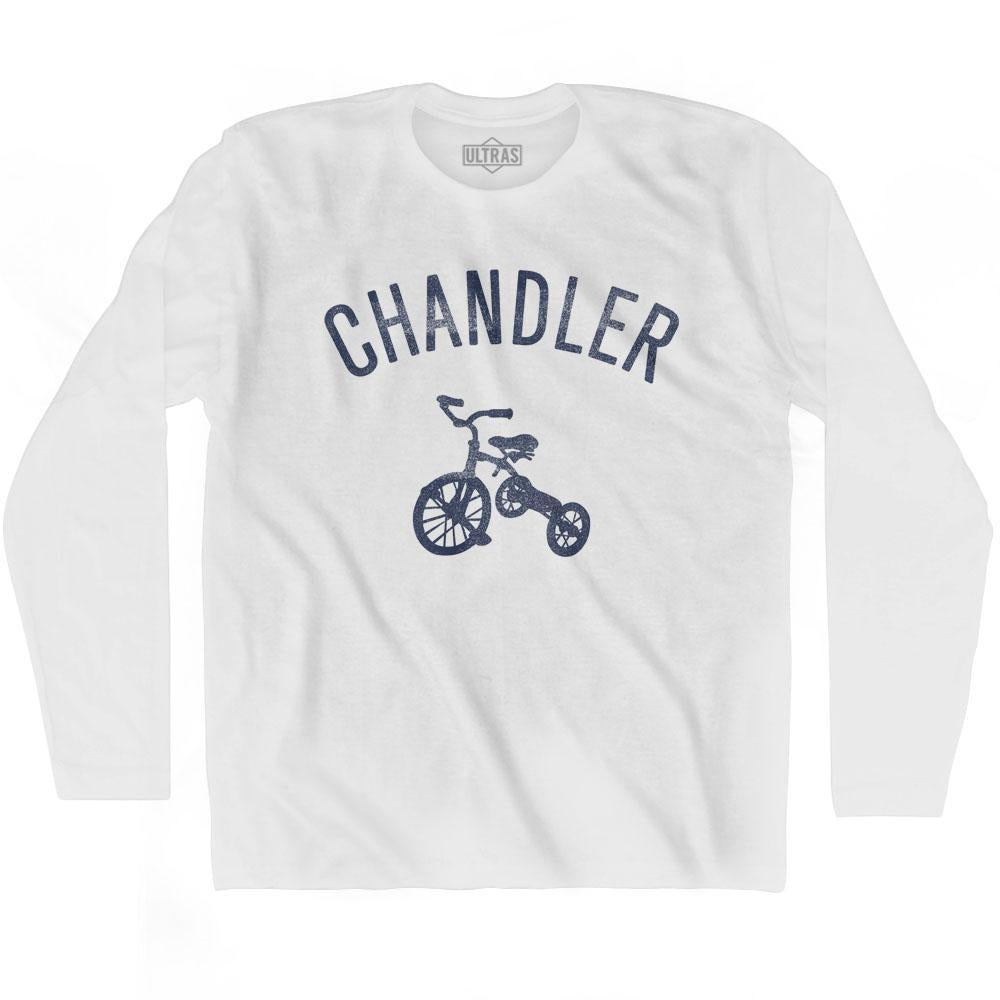 Chandler City Tricycle Adult Cotton Long Sleeve T-shirt by Ultras