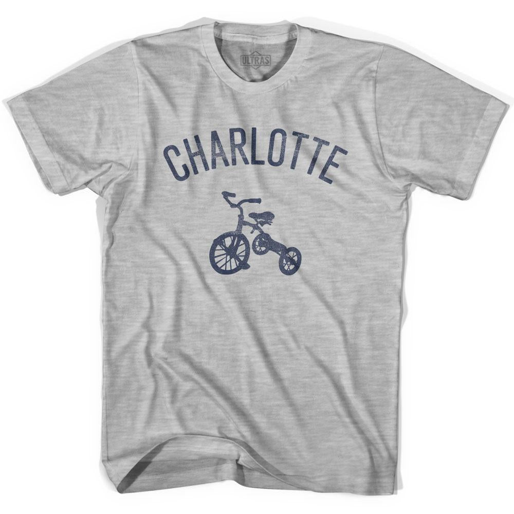 Charlotte City Tricycle Womens Cotton T-shirt by Ultras